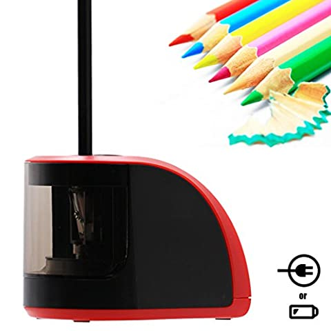Bostom Electric Pencil Sharpener Both USB and Battery Opreated, Automatic Electronic Sharpener Suitable for Office Classroom and Kids (One - Volume Commercial Electric Pencil Sharpener