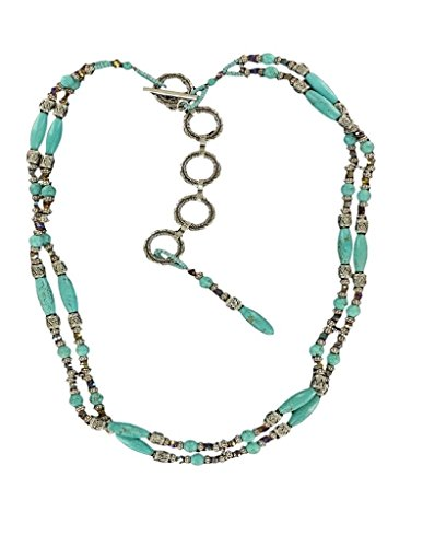 Ariat Women's Ariat Beaded Tirquoise Strand Belt Accessory, -silver, Large (Belt Turquoise Beaded)