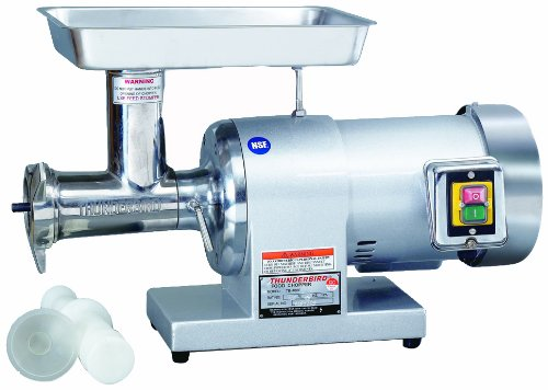 Thunderbird TB-300E Stainless Steel No.12 1 HP Meat Grinder, 115-volt, 60 Hz by Thunderbird