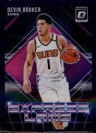 7ae78f90 2018-19 Donruss Optic Express Lane Purple #17 Devin Booker Phoenix Suns  Basketball Card