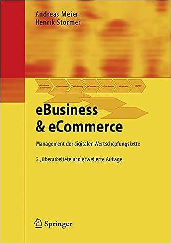Cover des Buchs: EBusiness & eCommerce: Management der digitalen Wertschöpfungskette (German Edition)