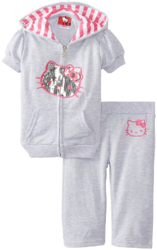 Hello Kitty Girls 2-6X Sequin Applique Sweatsuit