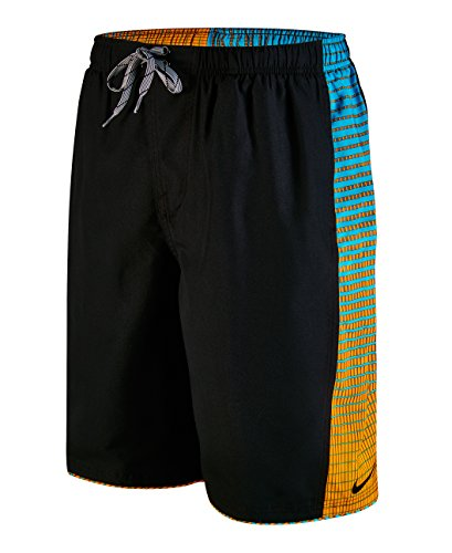 Nike Men's Continuum Splice Volley 11 Inch Swim Trunks XL Black
