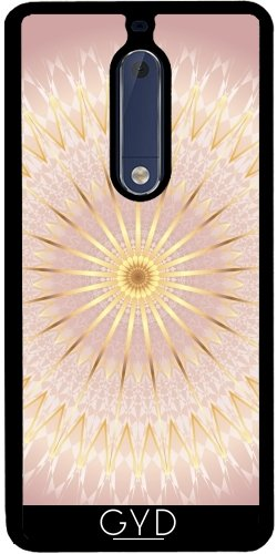 Funda de silicona para Nokia 5 - Mandala Medallón De Oro Rosa by Nina Baydur