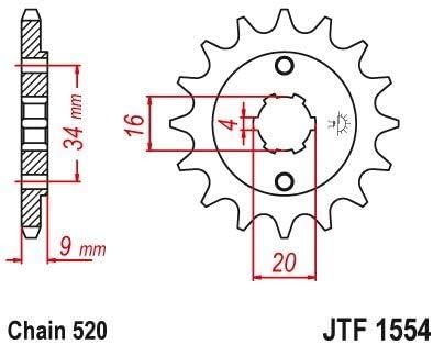 Yamaha YFS200 Blaster 88-06 TT-R230 05-17 DT200 L 85 Front Sprocket 13 Tooth 520 Pitch JTF1554.13
