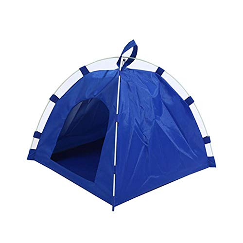 Cat House Portable Pet Dog Puppy Tent House Oxford Waterproof Foldable Portable for Outdoor Summer Blue