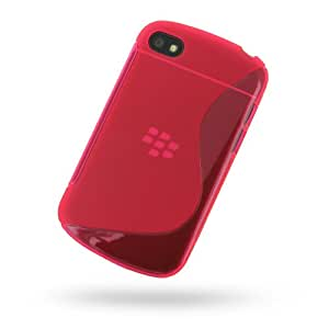 BlackBerry Q10 Soft Plastic Case (Pink/S Shape pattern) by SpringFields