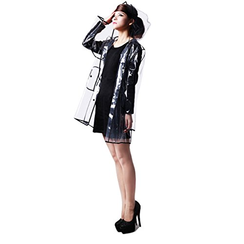 Vert Gear vent Creative Environnementale Rain Transparent Noir Raincoat Pour Adulte Coupe L'extérieur Poncho Couleur ctqww70vA