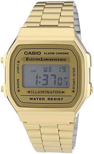 Casio Vintage Retro Gold Digital Dial Stainless Steel Unisex Watch A168WG9UR WeeklyReviewer