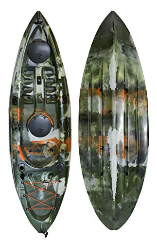 Vanhunks Whale Runner 9ft Fishing Kayak - Jungle Green