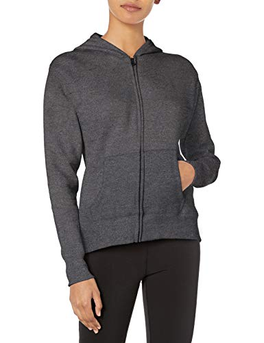 Hanes womens ComfortSoft EcoSmart Women's Full-Zip Hoodie Sweatshirt Slate Heather Medium