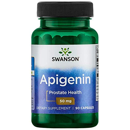 : Swanson Apigenin Prostate Health Supplements Nerve Health 50 mg 90 Capsules