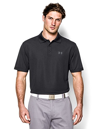 Under Armour Men's Performance Polo, Black/Steel, Small