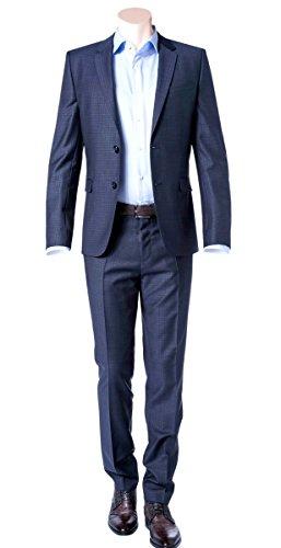 1aa2a8af3 Hugo Boss Extra Slim Fit 2 Piece Men's Suit 100% Virgin Wool Astian/Hets  50321255/423 Blue Check by HUGO