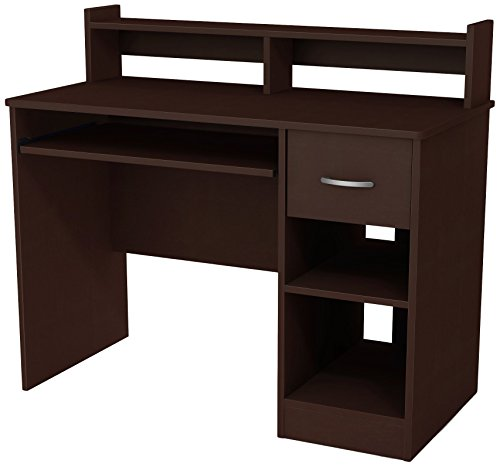 - South Shore Axess Desk with Keyboard Tray, Chocolate