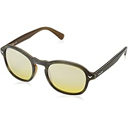 PoliceS1951m 50nkcx - S1951m 50nkcx Hombres, Brown & Light Brown Mirror, 50 mm