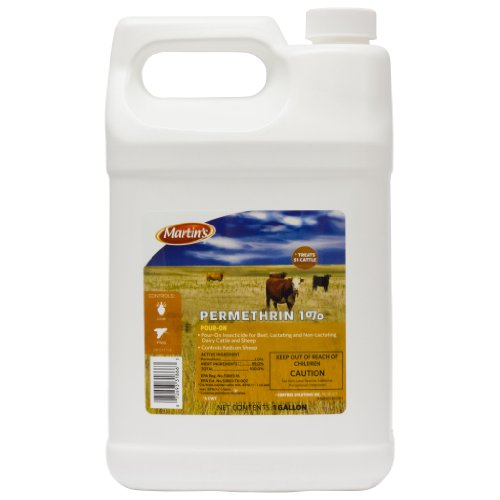 Permethrin 1% Pour-On Kills Lice, Horn FLies, Face Flies on beef cattle Gallon by Martin's