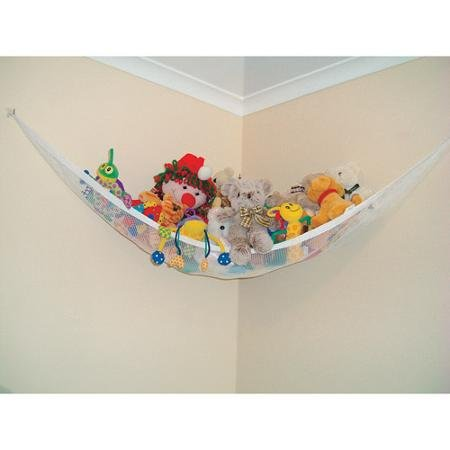 Toy hammock and chain provide a unique, whimsical way to store and display baby's toys