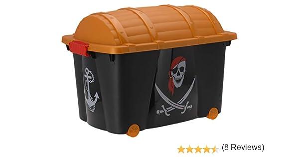 Caja para guardar pirata Caja ruedas juguete caja caja para juguetes Piratas – 57 L: Amazon.es: Hogar