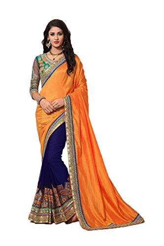 Indian Mustard Partywear Facioun Women Da Yellow Traditional Sarees Sari Designer Ethnic for SO1wU