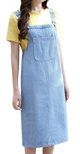 f962e4048a Yasong Women Girls Long Suspender Skirt Denim Dungarees Dress Pinafore  Overalls: Amazon.co.uk: Clothing