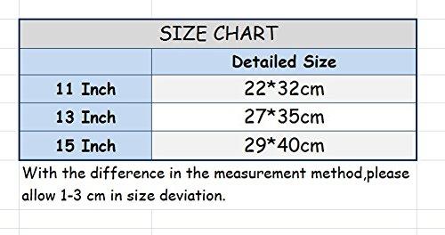 YiJee Tela de Mezclilla Funda Blanda Bolso Sleeve para Macbook Pro de 11.6-15.6 Pulgadas 13.3 Inch Azul