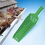 The Wedge Gutter Cleaning Scoop - Water Exits Thru The Grid So You Only Pick Up Debris and Leaves