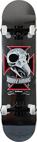 Skull Skateboard 2 Complete (Birdhouse Skateboards Tony Hawk Skull II Chrome Foil Complete Skateboard - 7.75