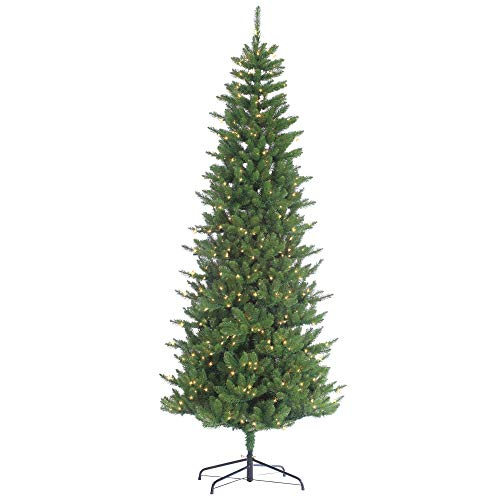 Augusta Pine Narrow Artificial Christmas Tree Color: Clear, Size: 9' (700 - 700 Lights Pine Clear
