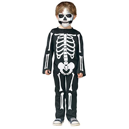 Lyfree Hallowmas Cosplay Clothing Series Long Sleeve Skeleton Print Dress for family (L, CHILDERN)