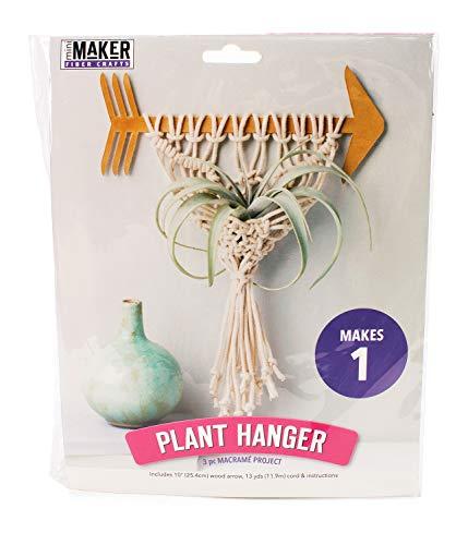 (Mini Maker Plant Hanger Kit: 3 Piece Macramé Project (kit, Yarn, macramé, DIY, Plant Hanger, Mini)