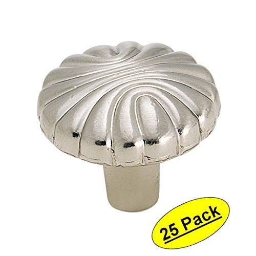 (Amerock BP1337-G9 Sterling Nickel Cabinet Hardware Knob - 1-7/32