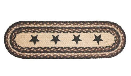 Amazon Com Braided Stair Treads Black Stars Rustic