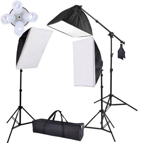 Professional Photography Studioトップライトソフトボックス連続照明キットフォト   B00B917QK6