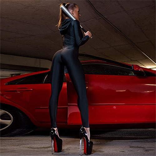レディースジャージ上下セット 女性のステッチジッパーウエストヨガパンツ (色 : 赤, サイズ : S)
