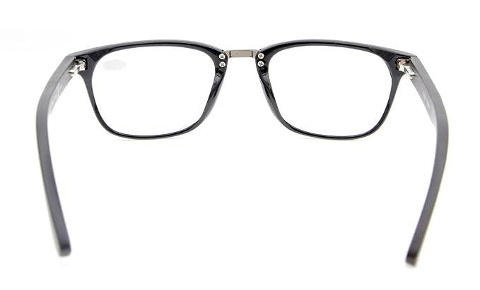Eyekepper Primavera cerniere Wood Arms Vintage occhiali da lettura nero +2,0