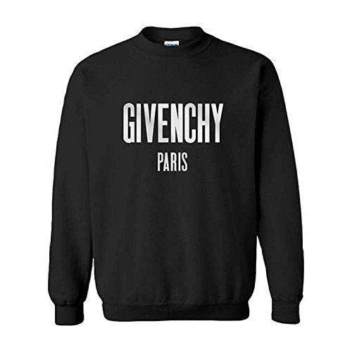Cristees Design Givenchy Paris Inspired Sweatshirt (Medium, Black)