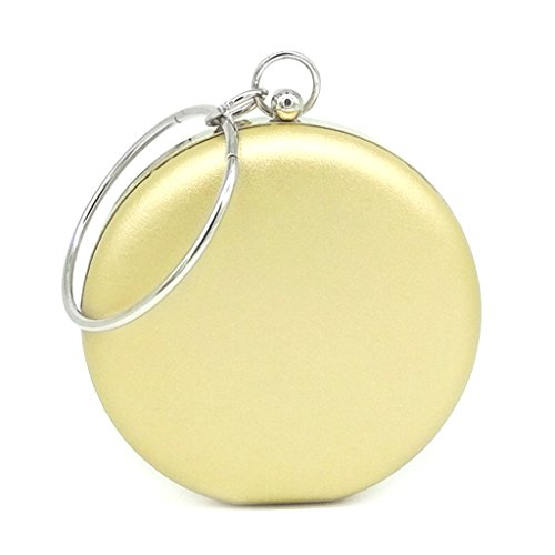 Round Evening Bags Clutch Purse Gold Handbag Bag Fashion Wedding Women's Mini Black JAGENIE Party 6nPTaYqI6