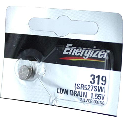 - 2PC Energizer 319 SR527SW 1.55V Silver Oxide Cell Battery - Made in Japan