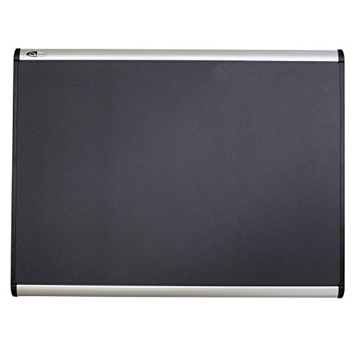 Quartet Prestige Plus Magnetic Fabric Bulletin Board, 6' x 4', Aluminum Frame (MB547A) by Quartet