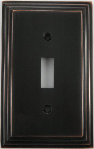 (Deco Style Oil Rubbed Bronze Single Gang Toggle Switch Wall Plate)