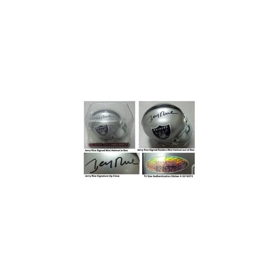 Signed Jerry Rice Mini Helmet   Authentic   Autographed NFL Mini Helmets