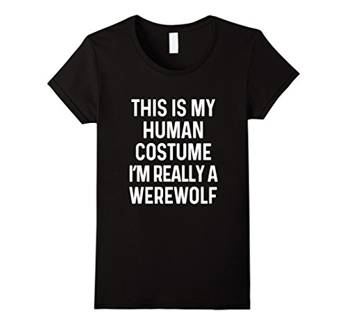 Werewolf Costumes Women (Womens Funny Werewolf Costume Shirt Halloween Men Women Kids Medium Black)