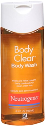 Neutrogena Body Clear Acne Body Wash with Glycerin & Salicylic Acid Acne Medicine for Acne-Prone Skin, Non-Comedogenic, 8.5 fl. oz (Pack of 2)