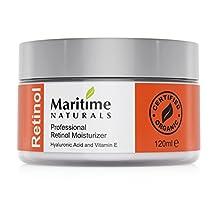 Canada's Premium 1% Retinol Moisturizer for Face - Hyaluronic acid and vitamin A - super anti aging skin cream – Professional Grade-Vegan-Cruelty Free - Organic-Face Lift in a Jar By Maritime Naturals