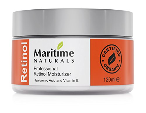 Canada's Premium Retinol Moisturizer for Face - Hyaluronic acid and vitamin A - super anti aging skin cream – Professional Grade - Organic-Face Lift in a Jar By Maritime Naturals