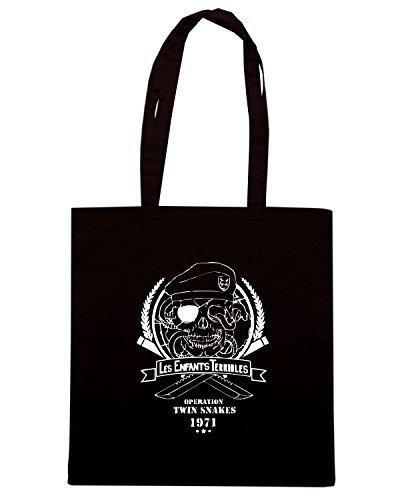 T-Shirtshock - Bolsa para la compra TGAM0045 Les Enfants Terribles Negro