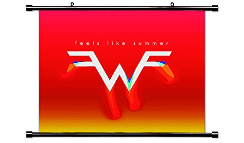 Weezer Rock Band Fabric Wall Scroll Poster (32 x 32) Inches