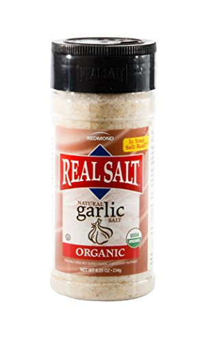 Redmond Real Sea Salt - Natural Unrefined Organic Gluten Free, Garlic Salt 8.25 Ounce
