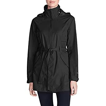 Eddie Bauer Women's Kona Trench Coat, Black Regular XS